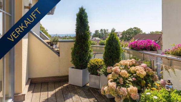Geräumige Citywohnung mit mediterranem Flair und Meerblick